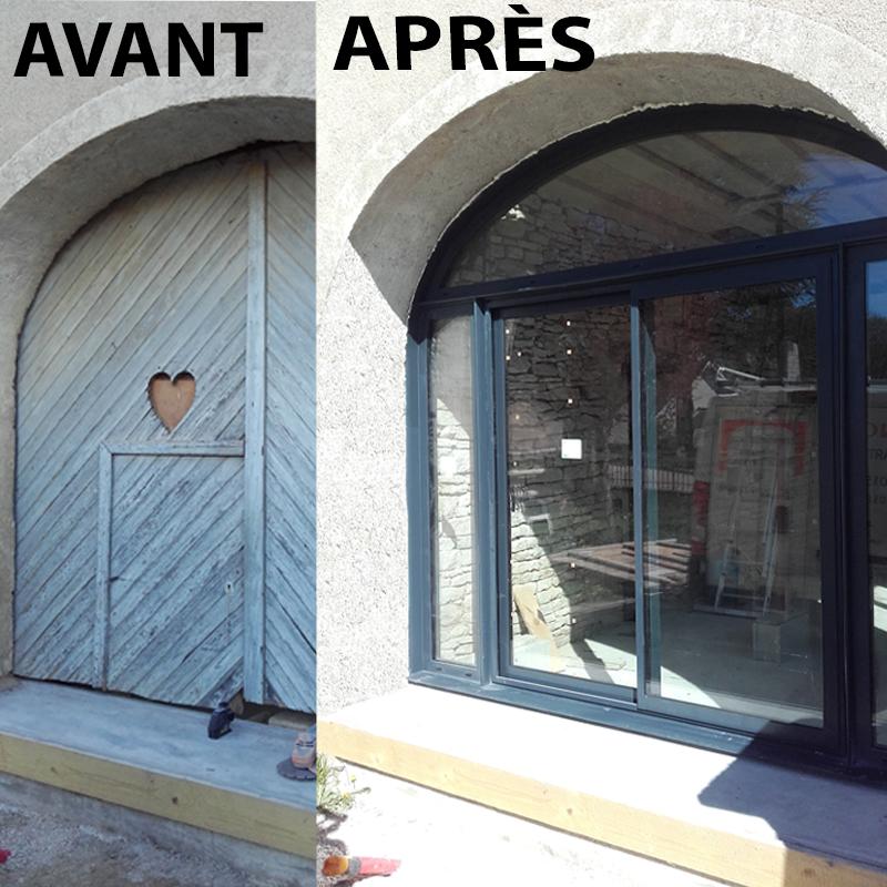 la pose d'une fenêtre dans un porsche
